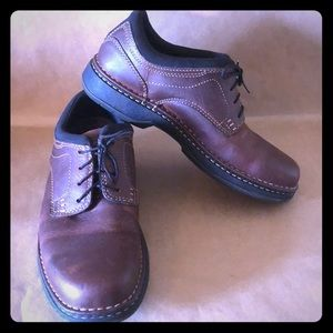 SKECHERS Streetcars Brown Leather Casual Oxford 10